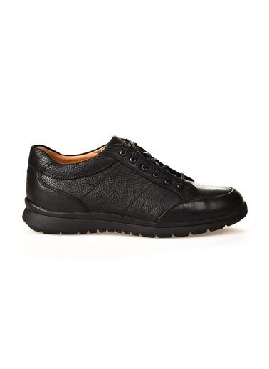 Dr.Flexer Siyah Erkek Hakiki Deri Comfort Ayakkabı Siyah